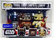 Funko Small 3 Packs Ewoks, Chrome, Snap , Rush Etc   (1 Pack)