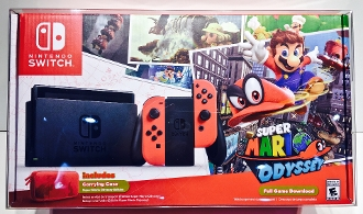 #18 Mario Odyssey / Splatoon 2 Switch Console Box Protector  (1)