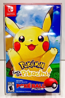 Pokemon Let's Go Pikachu + Eevee Switch   (1 Protector)